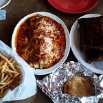 Ribs, Lasagna Rolls, County Fair Fries, Bread....everything prepared by Ugly Duck chefs...