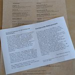 Lunch menu, and history of Corkscrew Cafe