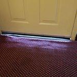 gap under the hotel door