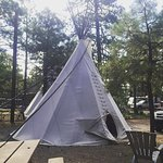 "This is a small tee pee (they have another that is ""large""), w/ ample room for parking and relax"