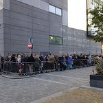 Queuing for a BBC show