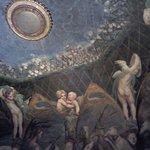 Uno scorcio dell'affresco del Parmigianino