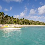 Your transport to the beautiful Uoleva Island, turquoise waters, palm trees and golden beaches