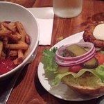 Veggie Burger and Fries!