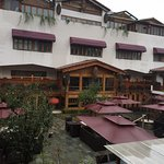 Rainy day in Beijing. RWG Hotel Courtyard.