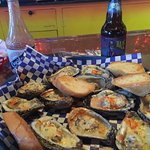 Just taking a road less traveled and came upon a small sports bar with excellent food. Oysters r
