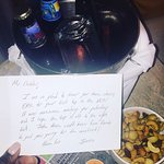 Note and Craft Beers Ivanna from front desk sent me