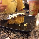 blueberry-orange cake, moist & flavorful with a cup of rich hot coffee