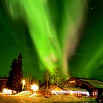 Northern Lights over the Brewpub in April