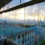 Hagia Sophia, Blue Mosque, Rising Sun, Sea and the city...