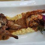 Quail legs, Shrimp on on Grits