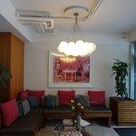 the small hotel lobby