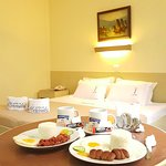 Php 1,699.00 Superior King Room with breakfast in bed.