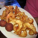 Shrimp, fries and Hush Puppies!