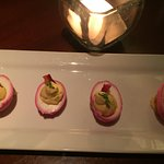 Deviled Eggs, Pink for breast cancer