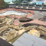 pool under construction, still paid full price on resort fees