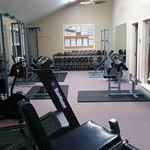 Also had cardio equipment, in addition to the weight equipment!