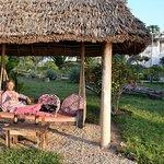 Selbstporträt im Garten der Chuini Zanzibar Beach Lodge.