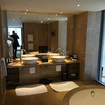 bathroom with the huge bath tub