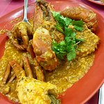 Chilli crab(Sri Lankan crab-1kg) and Steamed Soon Hock Fish in HK sauce.