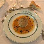 entrée à base de caviar d'aubergine