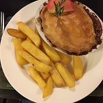 Steak and Ale Pie with the best chips you'll ever have!