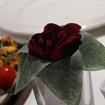 Rose on the table