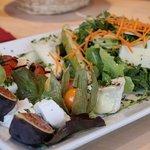 Leckerer Salat beim italienischen Abend mit mama cucina - Myriam im Schloessle-schenkenzell.de
