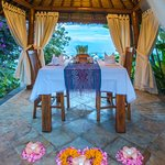 Romantic Dinner set up at our Bale Bengong