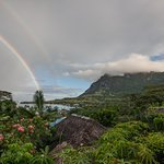 Double rainbow - View from Navenave bungalow
