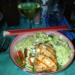Asian Noodle Bowl with Salmon