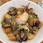Ling Cod and Clams -- Pacific Northwest comfort food