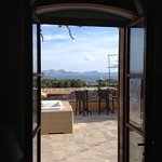 View across Alcudia bay from one of the clubhouse doors