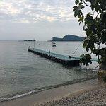 Blick vom Zeltplatz auf den See.