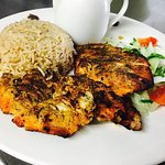 Delicious Chicken Breast Served With Pillau Rice, Chargrilled.
