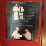 Ze zijn erg trots op het pauselijke bezoek dat ze hebben gehad.