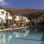 The pool was immaculate, right next to the beautiful sheep-covered Cretan hills.