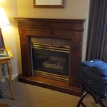 Gas fireplace; working desk