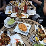 We had 3 tables for the 6 of us and all this delicious food!