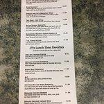 Full menu