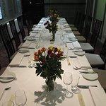 Private dining room looking very elegant!