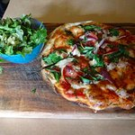 My lunch special of pizza and small salad