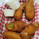 Fried whole pickles