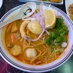 Laksa Soup with Yellow Noodles