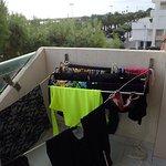 Laundry rack on balcony !