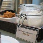 Vegan yogurt at Hector's Restaurant!