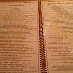 Die Käsekuchen-Seite der Karte