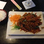 Kung pao chicken - perfectly prepared and served