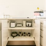 A holiday Kitchen away from home - well appointed  kitchens in all apartments.