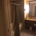 Loved the layout of the bathroom. Plenty of space for two people to get ready for their day.